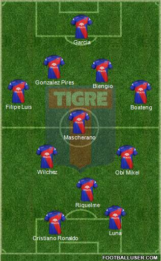 Tigre 4-3-1-2 football formation