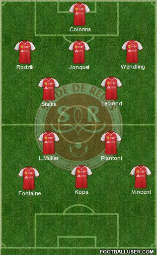 Stade de Reims 4-4-2 football formation