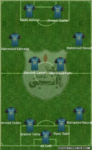 ENPPI Club 4-2-2-2 football formation
