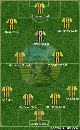 Arab Contractors Cairo 4-3-3 football formation