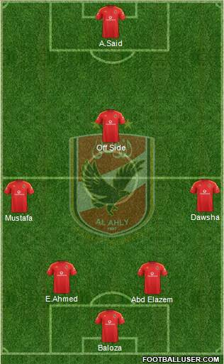 Al-Ahly Sporting Club 4-4-2 football formation