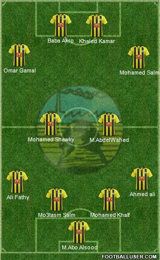 Arab Contractors Cairo 4-2-2-2 football formation