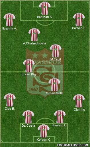 Sivasspor 4-4-1-1 football formation