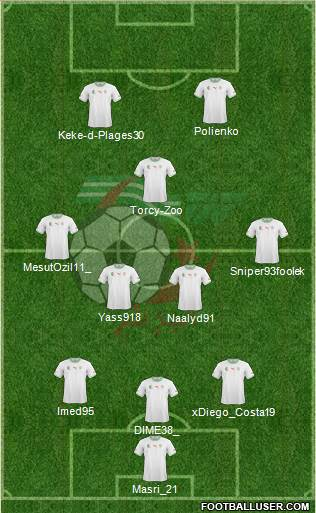Algeria 3-5-2 football formation