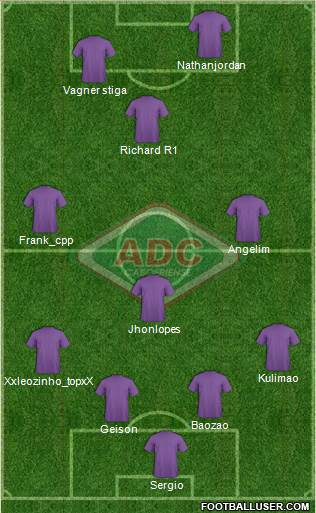 AD Cabofriense 4-3-1-2 football formation