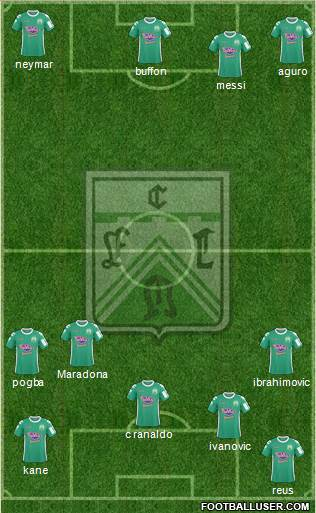 Ferro Carril Oeste 4-3-1-2 football formation