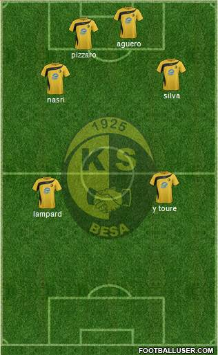 KS Besa Kavajë 4-4-1-1 football formation