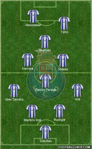 Futebol Clube do Porto - SAD 4-4-1-1 football formation