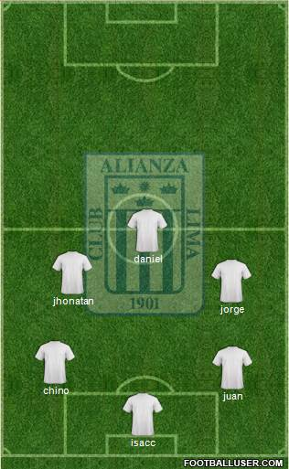 C Alianza Lima 4-1-2-3 football formation