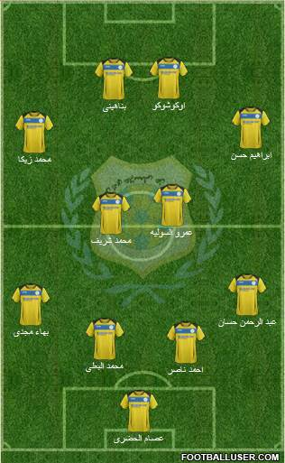 Ismaily Sporting Club 4-3-2-1 football formation