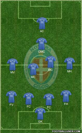 Novara 4-4-1-1 football formation