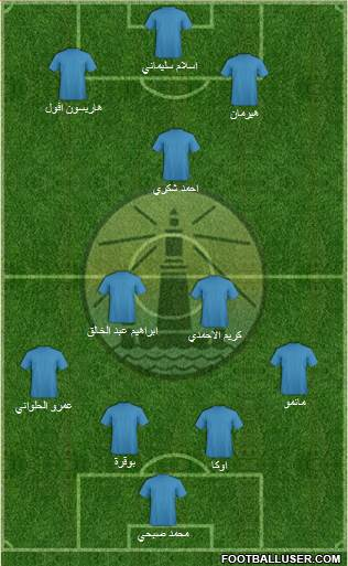 Olympic Alexandria 4-1-4-1 football formation