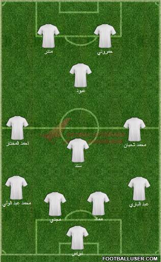 Air India 4-3-1-2 football formation