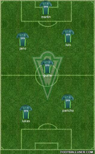 CD Santiago Wanderers S.A.D.P. 4-5-1 football formation