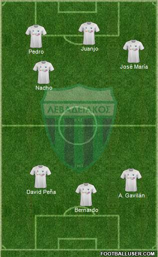 APO Levadeiakos 4-4-1-1 football formation