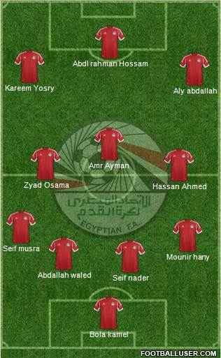 Egypt 4-3-3 football formation