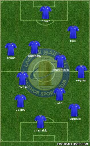 Al-Khor Sports Club 4-3-2-1 football formation