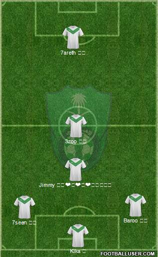 Al-Ahli (KSA) 4-1-2-3 football formation