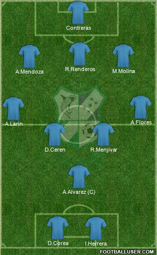 CD Platense 3-5-1-1 football formation