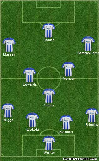 Colchester United 4-1-4-1 football formation