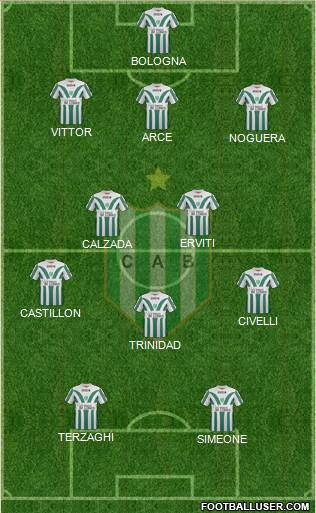 Banfield 3-4-1-2 football formation