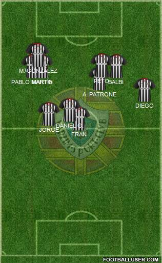 Varzim Sport Clube 4-4-1-1 football formation