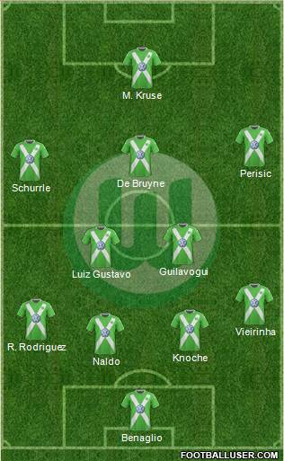 VfL Wolfsburg 3-5-1-1 football formation