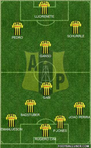 Alianza Petrolera AS 4-1-4-1 football formation