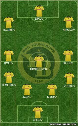 BSC Young Boys 4-3-2-1 football formation
