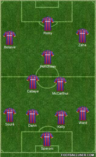 Crystal Palace 4-3-1-2 football formation