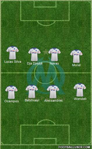 Olympique de Marseille 5-3-2 football formation