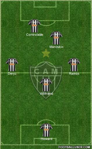 C Atlético Mineiro 4-2-1-3 football formation
