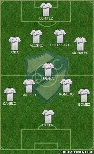 Quilmes 4-2-2-2 football formation