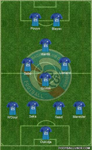 Racing Club de Strasbourg-Football 4-1-2-3 football formation