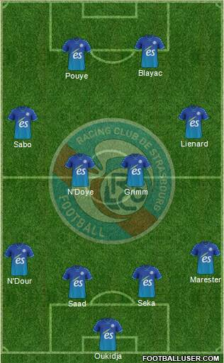 Racing Club de Strasbourg-Football 4-2-2-2 football formation