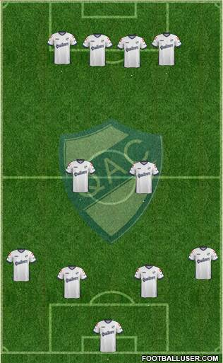 Quilmes 4-2-4 football formation