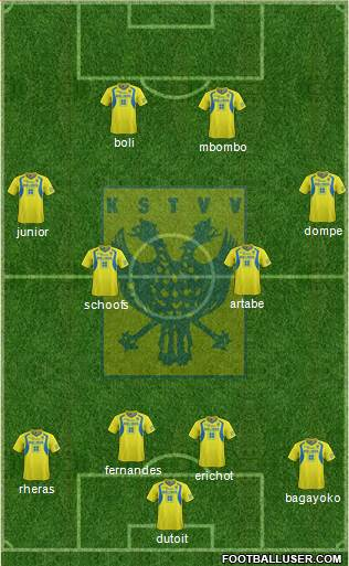 K Sint-Truidense VV 4-4-2 football formation