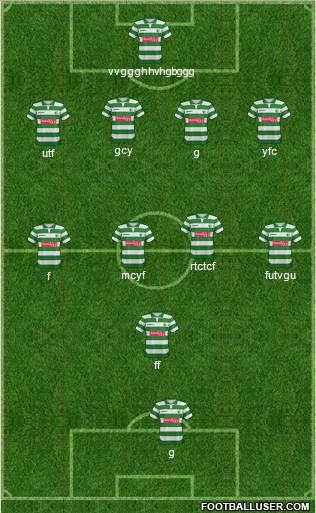 The New Saints 4-4-1-1 football formation