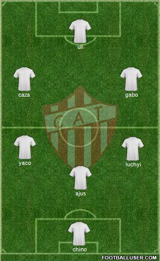 Talleres de Remedios de Escalada 5-3-2 football formation
