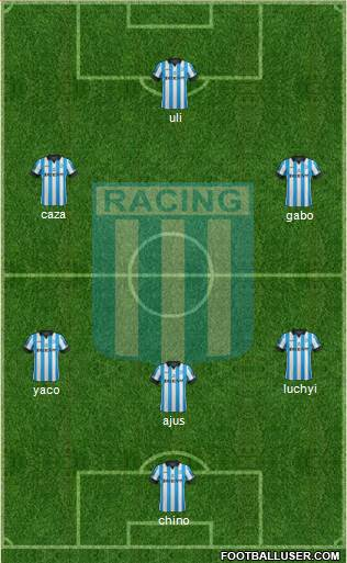 Racing Club 4-1-3-2 football formation