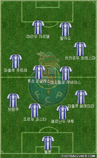 Futebol Clube do Porto - SAD 4-4-2 football formation