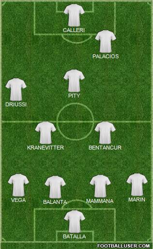 Euro 2012 Team 4-4-1-1 football formation