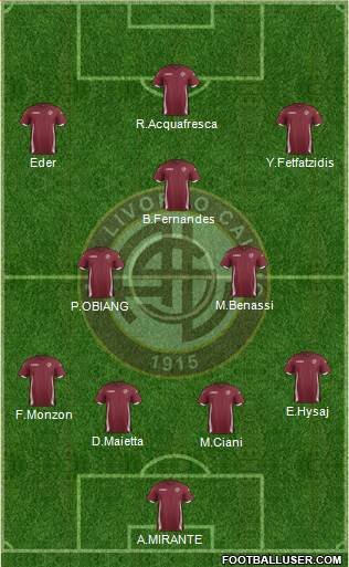 Livorno 4-2-3-1 football formation