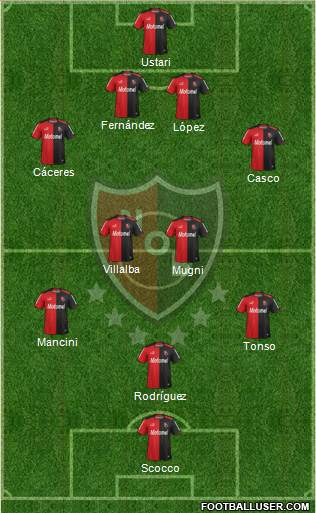 Newell's Old Boys 4-4-1-1 football formation