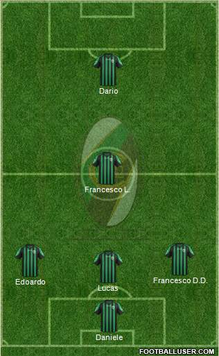 Chieti 3-4-2-1 football formation