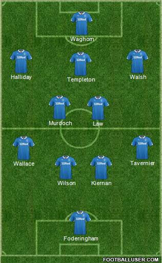 Rangers 4-2-3-1 football formation