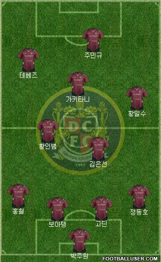 Daejeon Citizen 4-2-3-1 football formation