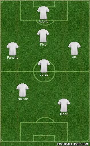 Euro 2012 Team 4-1-4-1 football formation
