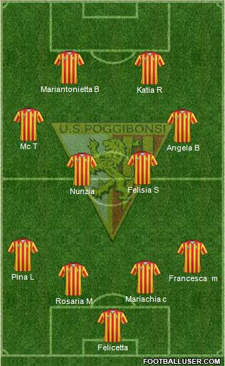 Poggibonsi 4-4-2 football formation