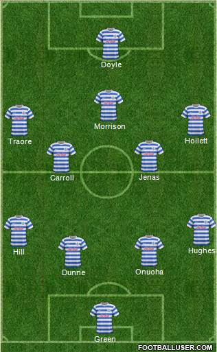 Queens Park Rangers 4-5-1 football formation